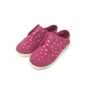 Other - Toms pink with silver hearts